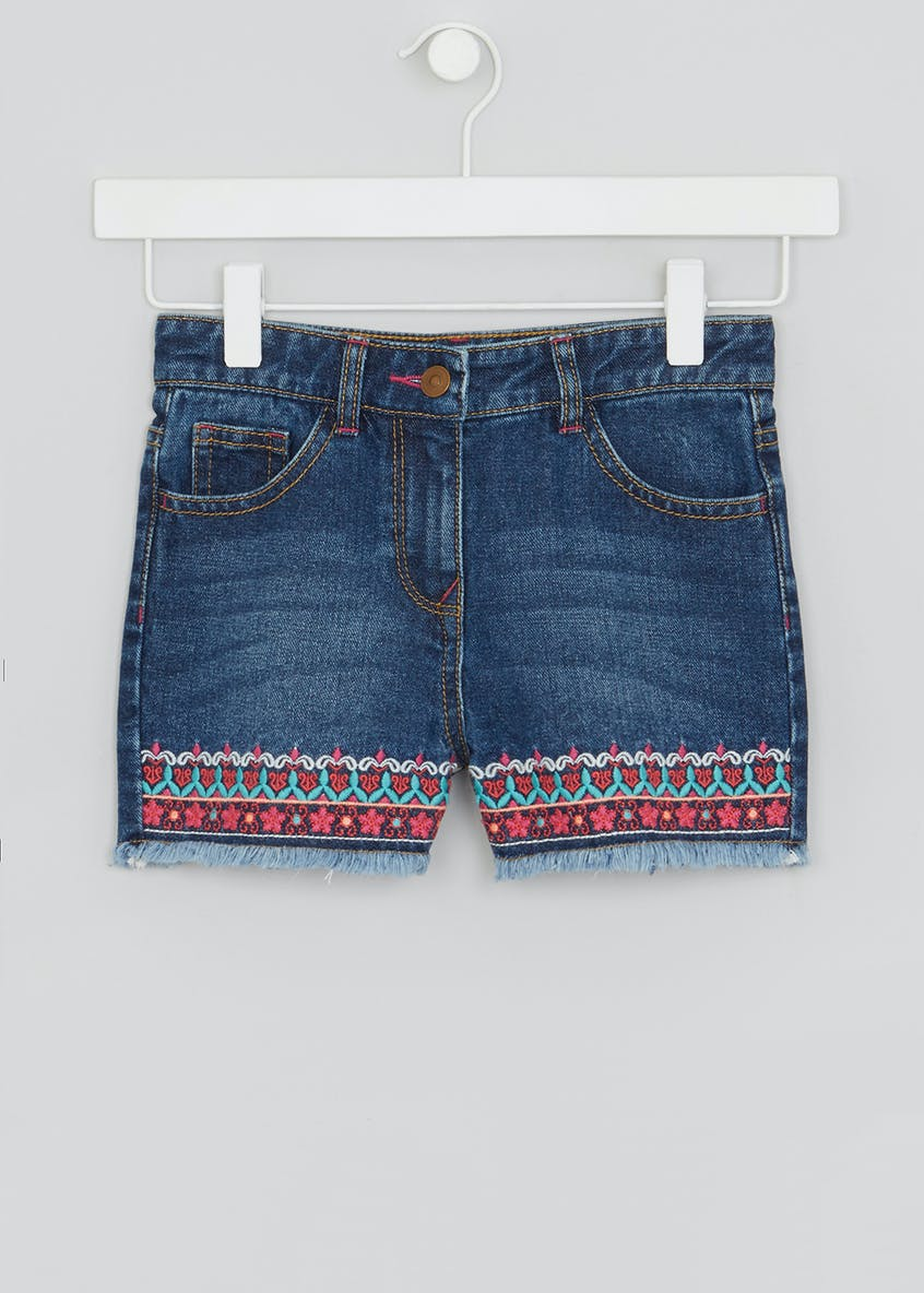 Girls Embellished Denim Shorts (4-13yrs)