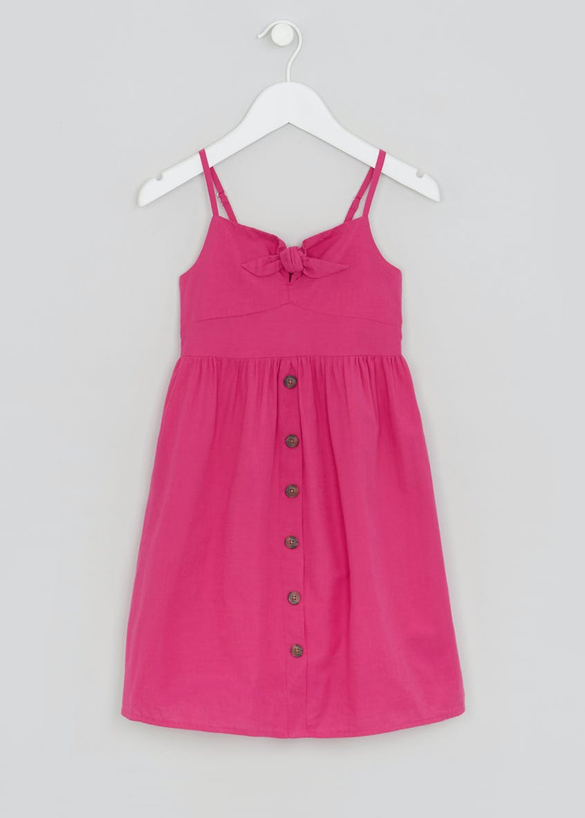 Girls Tie Front Dress (4-13yrs)