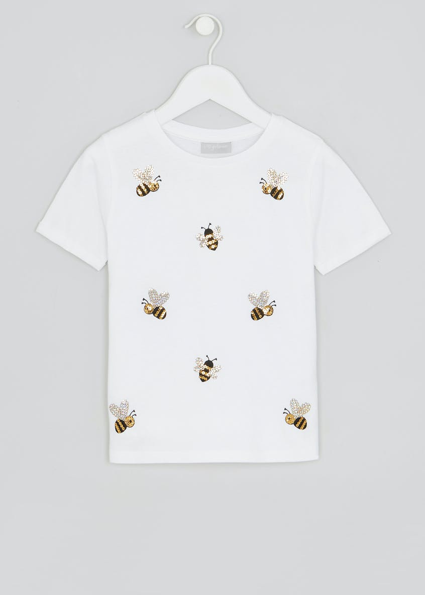 Girls Sequin Bee T-Shirt (4-13yrs)