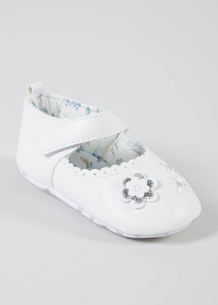 Girls Soft Sole Bow Baby Shoes (Newborn-18mths)