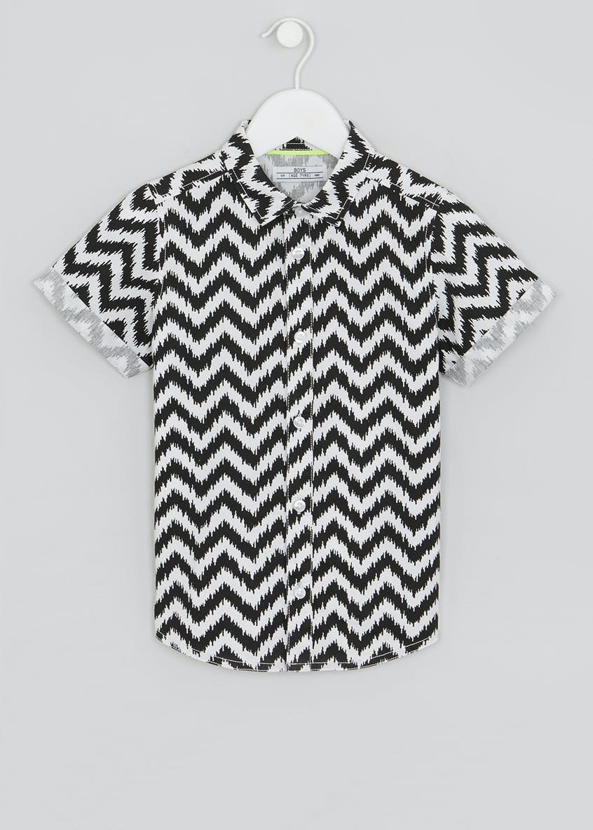Boys Chevron Short Sleeve Shirt (4-13yrs)