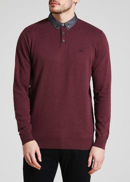 Mock Collar Polo Shirt