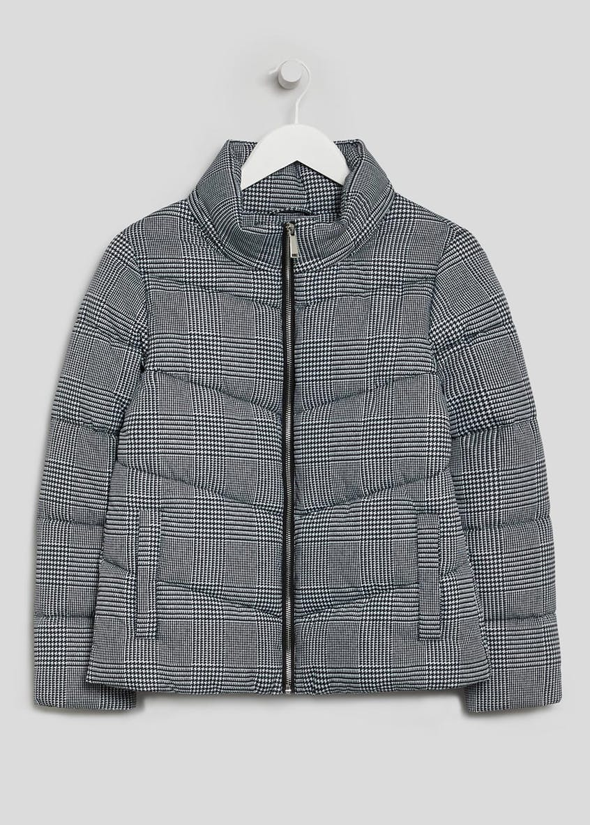 Papaya Petite Check Short Padded Coat