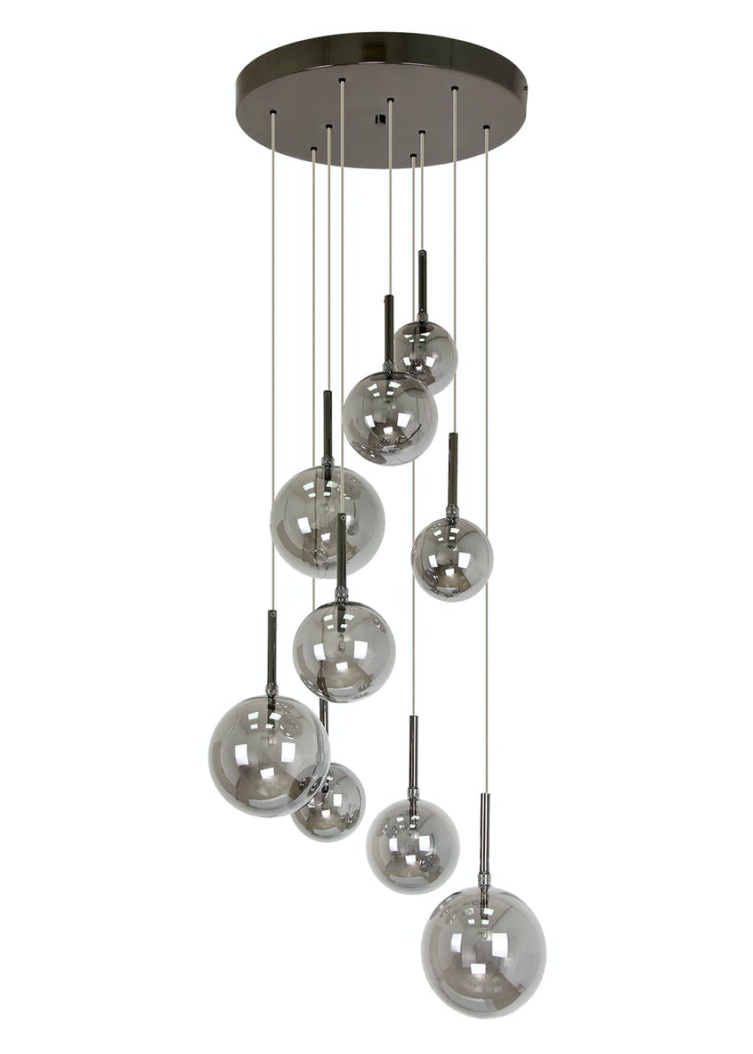 Nyla Smoked Cluster Light (H130cm-110cm x W40cm)