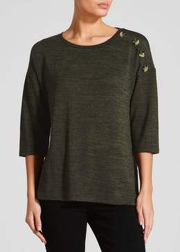 Button Front Snit Top