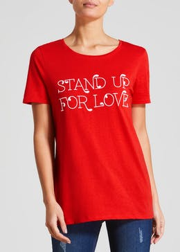 Love Slogan T-Shirt