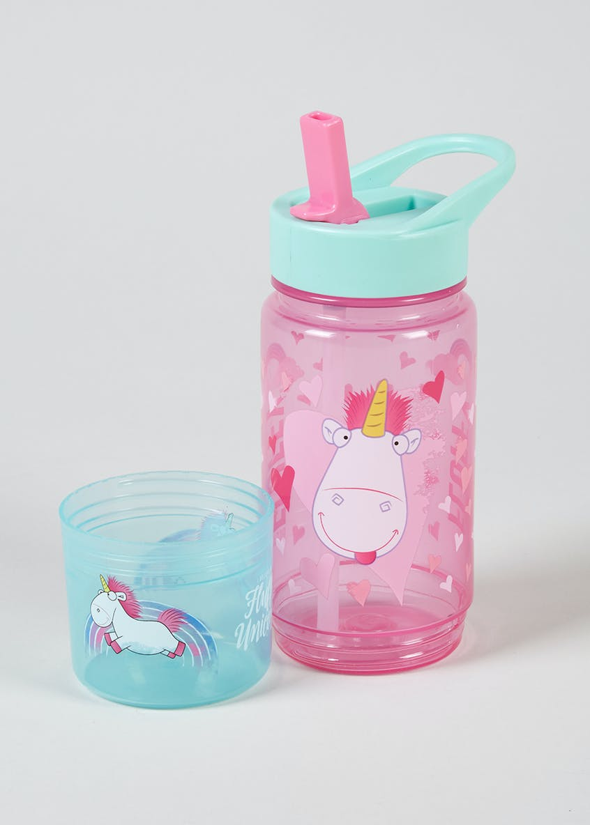 Despicable Me Fluffy the Unicorn Water Bottle & Snack Pot (20cm x 7cm)