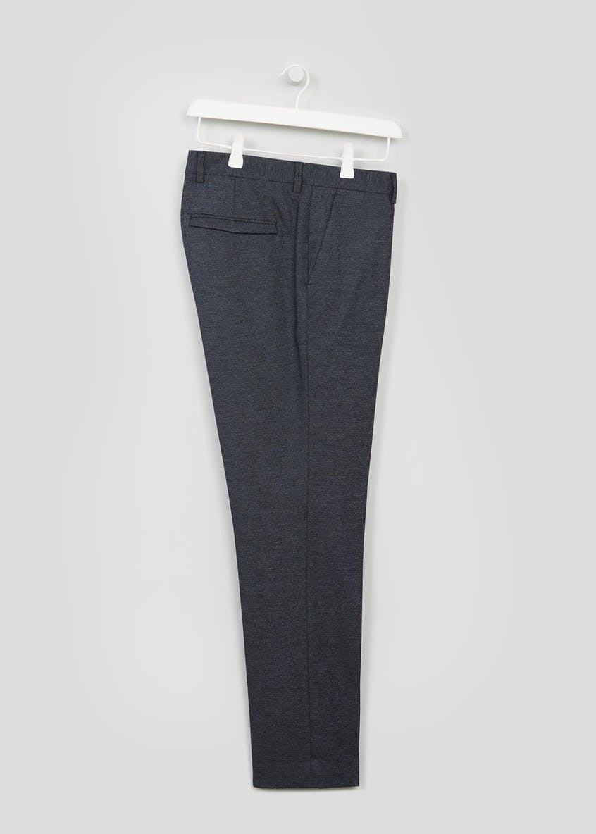 Hyde Textured Slim Fit Trousers