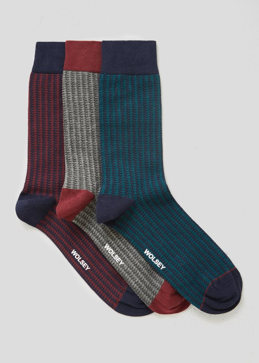 3 Pack Wolsey Puppytooth Socks