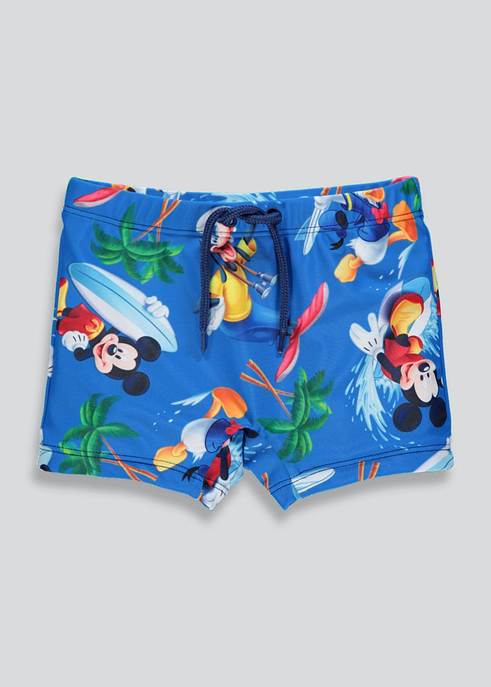 faf2aa864c Boys Disney Mickey Mouse Swimming Trunks (3mths-4yrs) – Blue – Matalan
