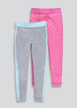 Girls Souluxe 2 Pack Leggings (4-13yrs)