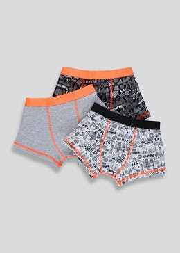 Boys 3 Pack City Print Trunks (2-13yrs)