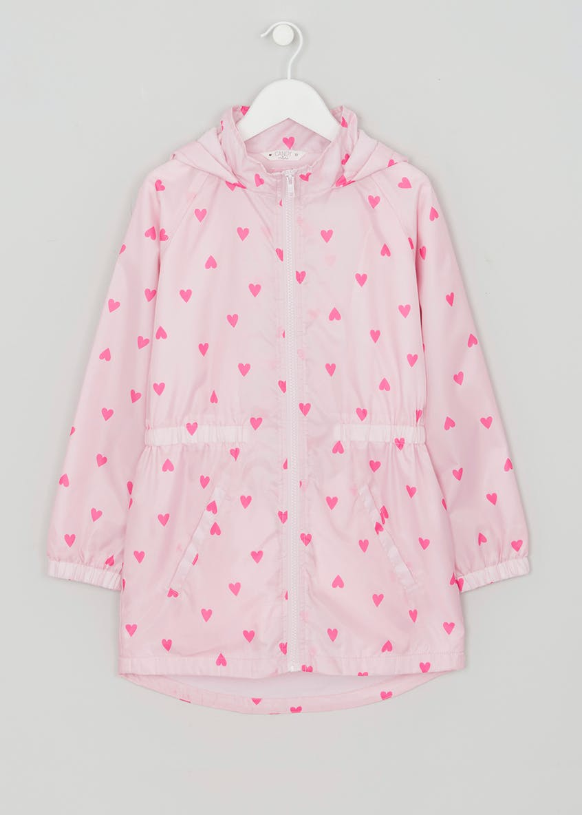 Girls Candy Couture Heart Lightweight Mac (9-16yrs)