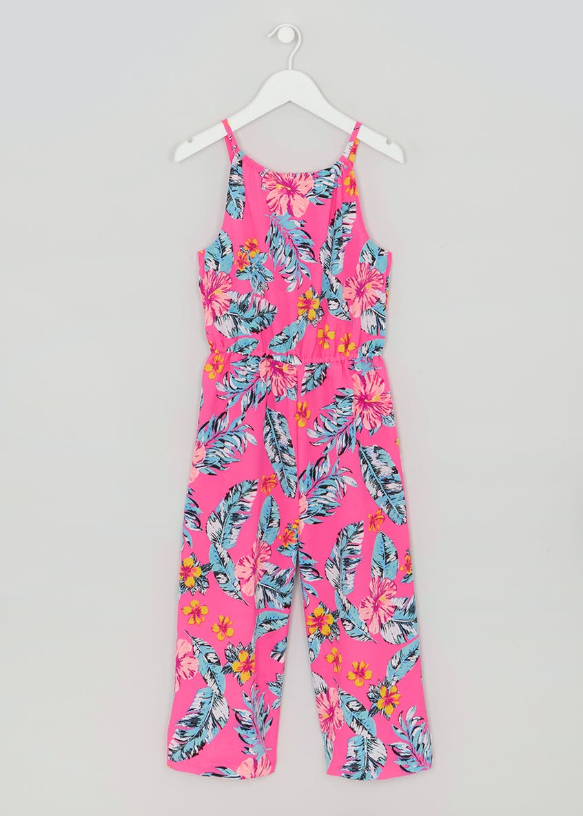Girls Candy Couture Floral Crepe Culotte Jumpsuit (9-16yrs)