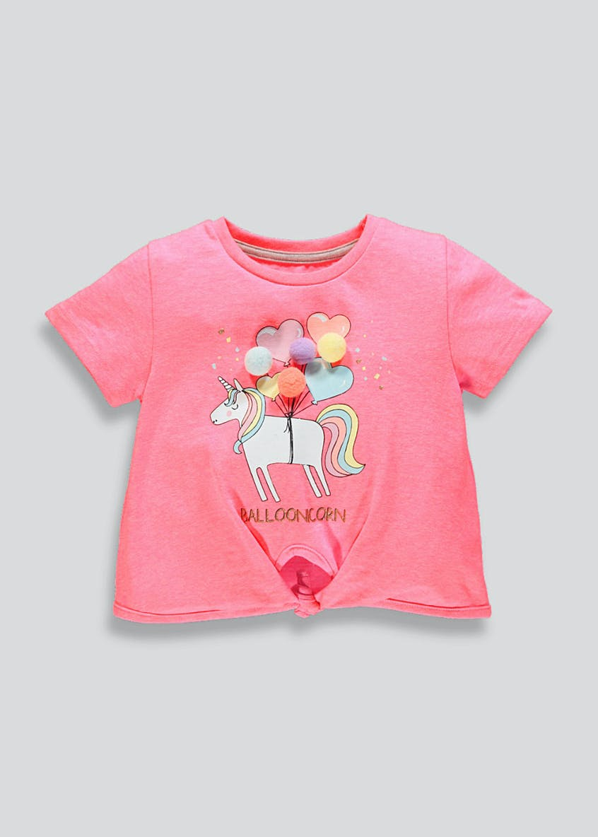 Kids Unicorn Knot Front T-Shirt (9mths-6yrs)