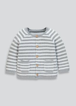 Unisex Stripe Knitted Cardigan (Tiny Baby-18mths)