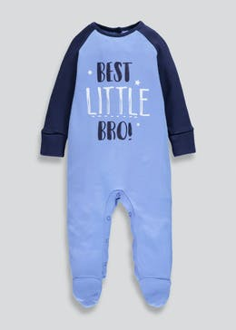 Boys Little Bro Baby Grow (Tiny Baby-9mths)