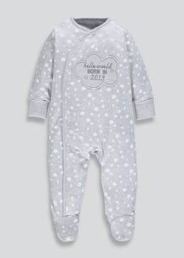 Unisex 2019 Slogan Baby Grow (Tiny Baby-9mths)