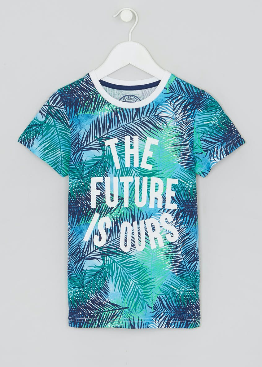 Kids Palm Tree Slogan T-Shirt (4-13yrs)