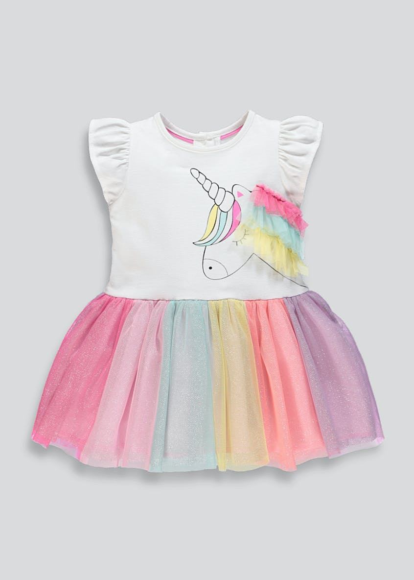 Girls Unicorn Tutu Dress (9mths-6yrs)