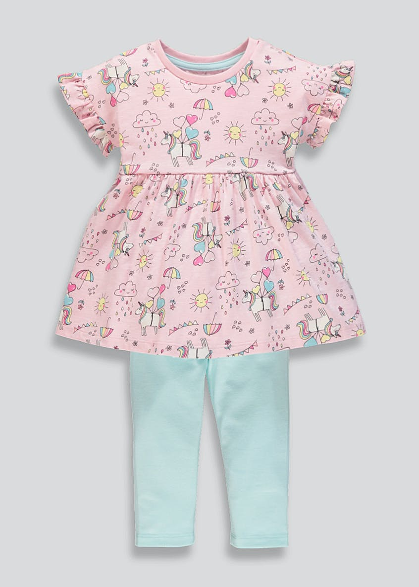 Girls Unicorn Top & Leggings Set (9mths-6yrs)
