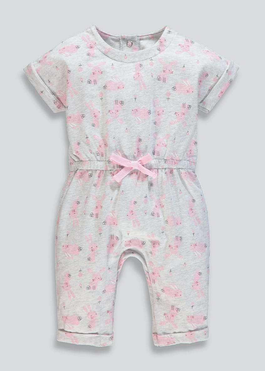 Kids Bunny Brushed Cotton Romper (Newborn-18mths)