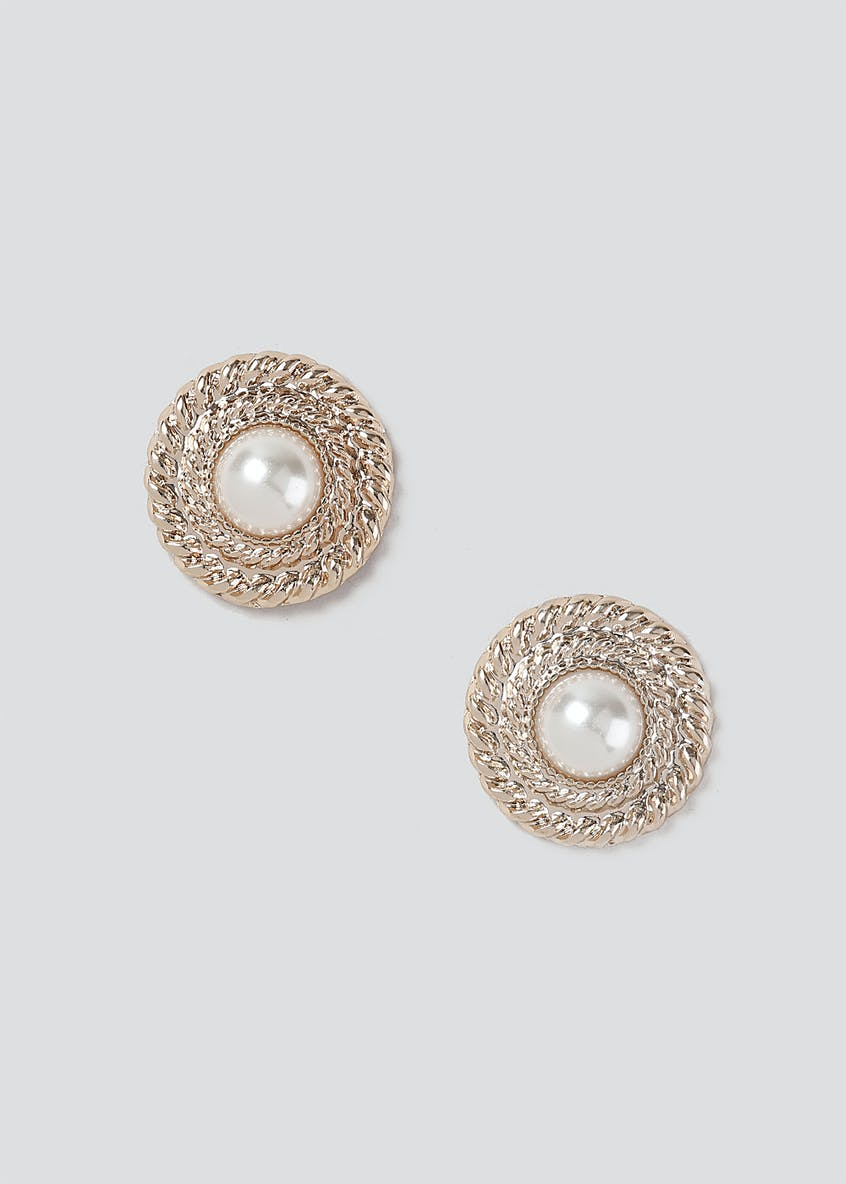 Pearl Done Stud Earrings