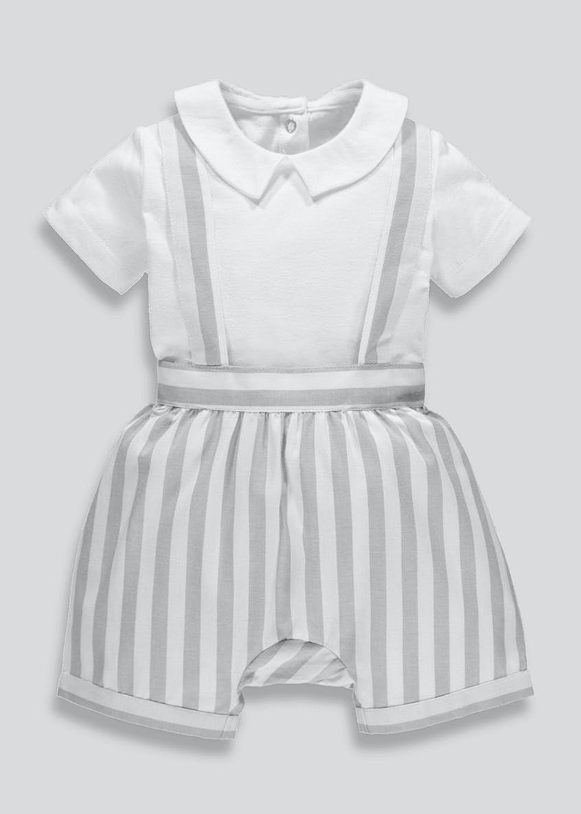 Unisex Stripe Shorts & T-Shirt Set (Newborn-18mths)
