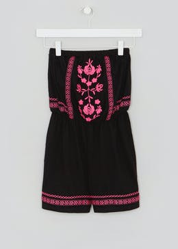 Girls Candy Couture Embroidered Playsuit (9-16yrs)