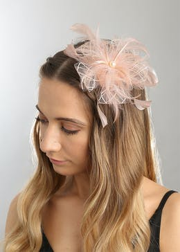 Blush Feather Fascinator
