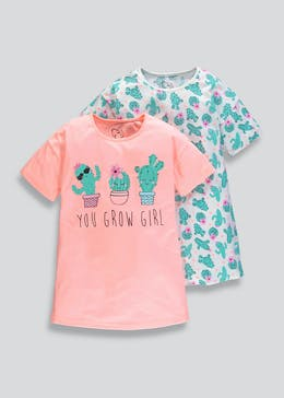 Girls 2 Pack Nighties (4-13yrs) b4c68ceed