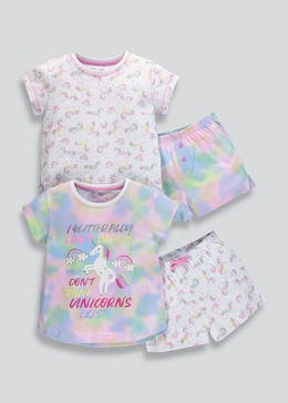 Girls 2 Pack Unicorn Pyjamas (4-13yrs) b289d3fdc