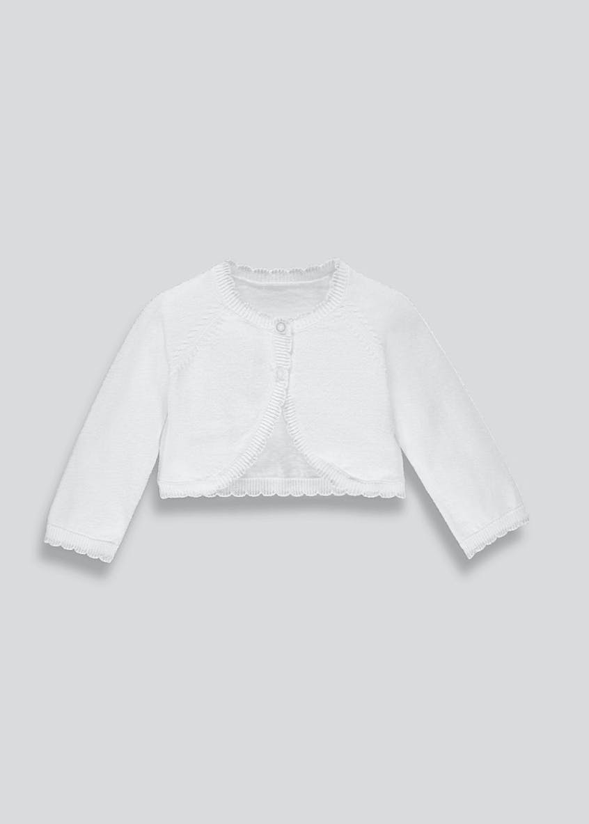 Girls Scalloped Bolero Cardigan (Newborn-18mths)