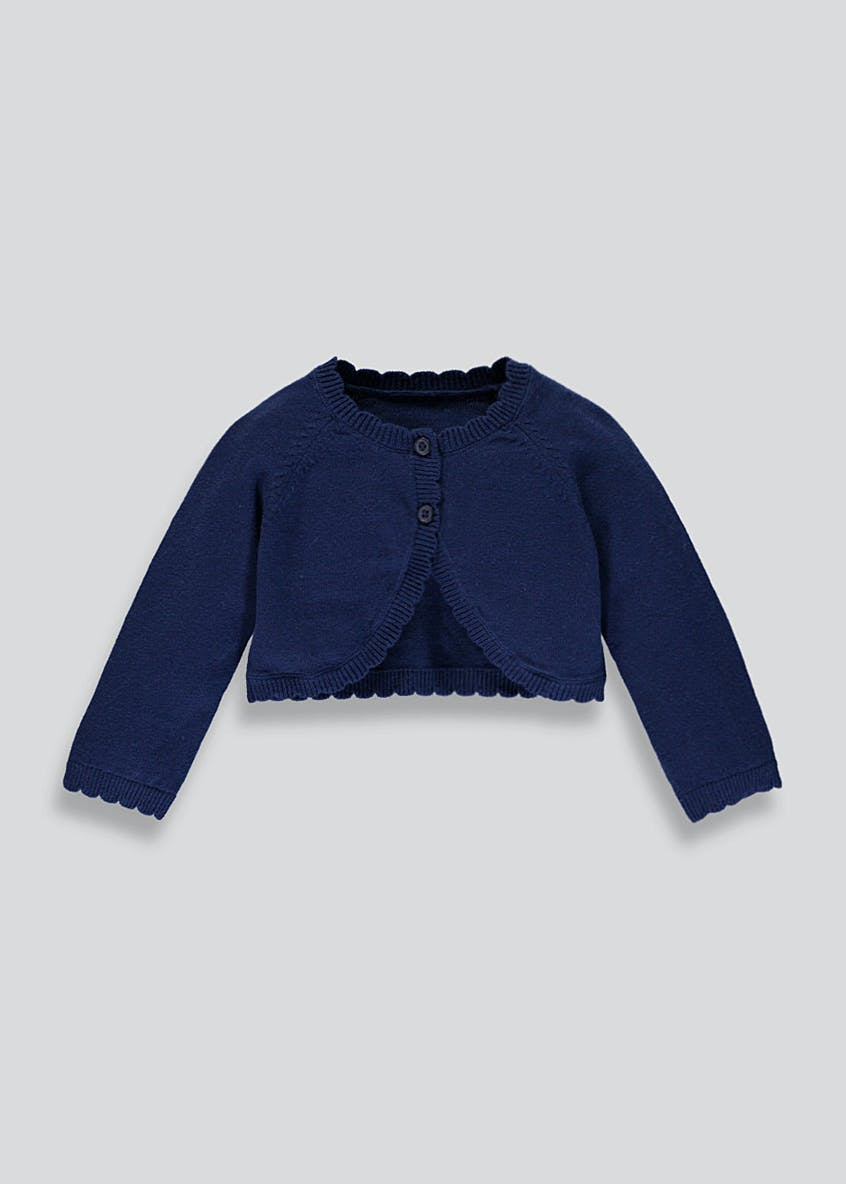 Scalloped Bolero Cardigan (Newborn-18mths)