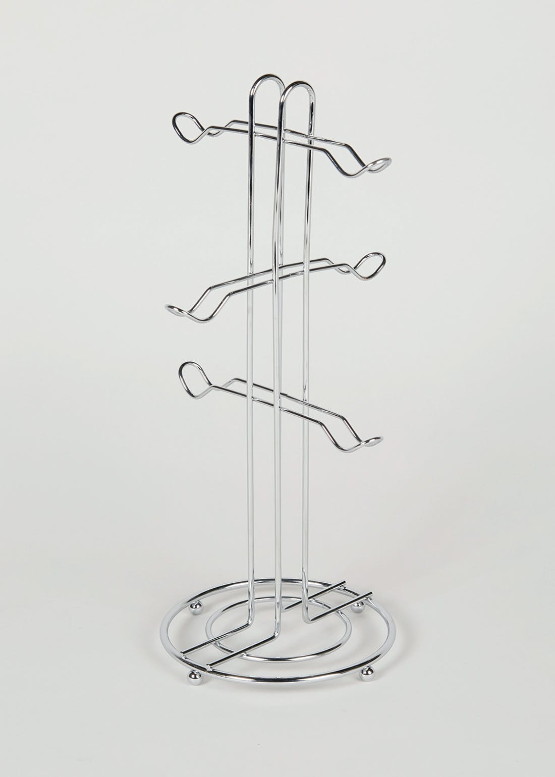Chrome Mug Tree (37cm x 18cm)