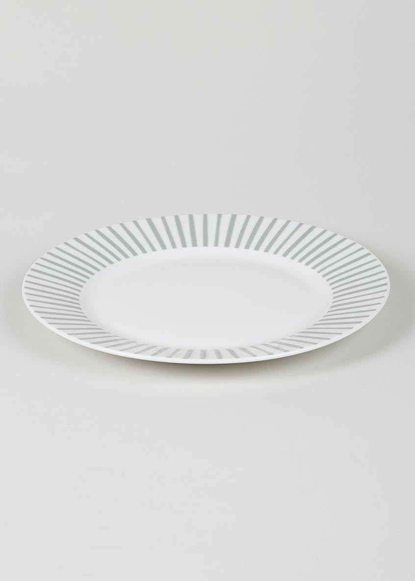 Stripe Round Dinner Plate (27cm)
