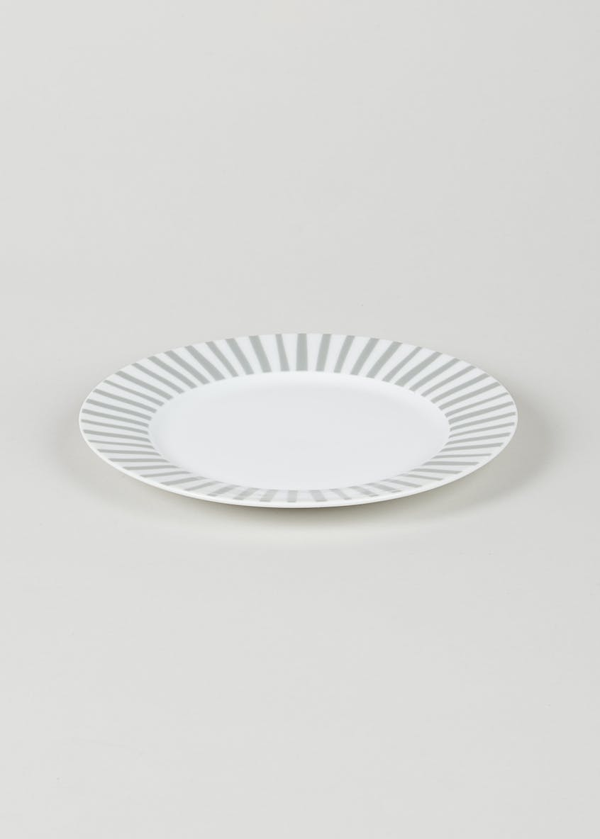 Stripe Round Side Plate (19cm)