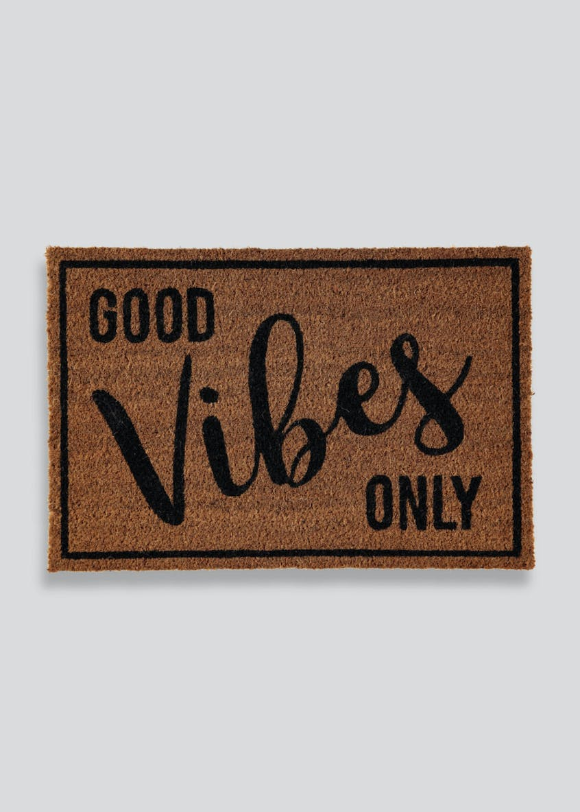 Good Vibes Slogan Doormat (60cm x 40cm)