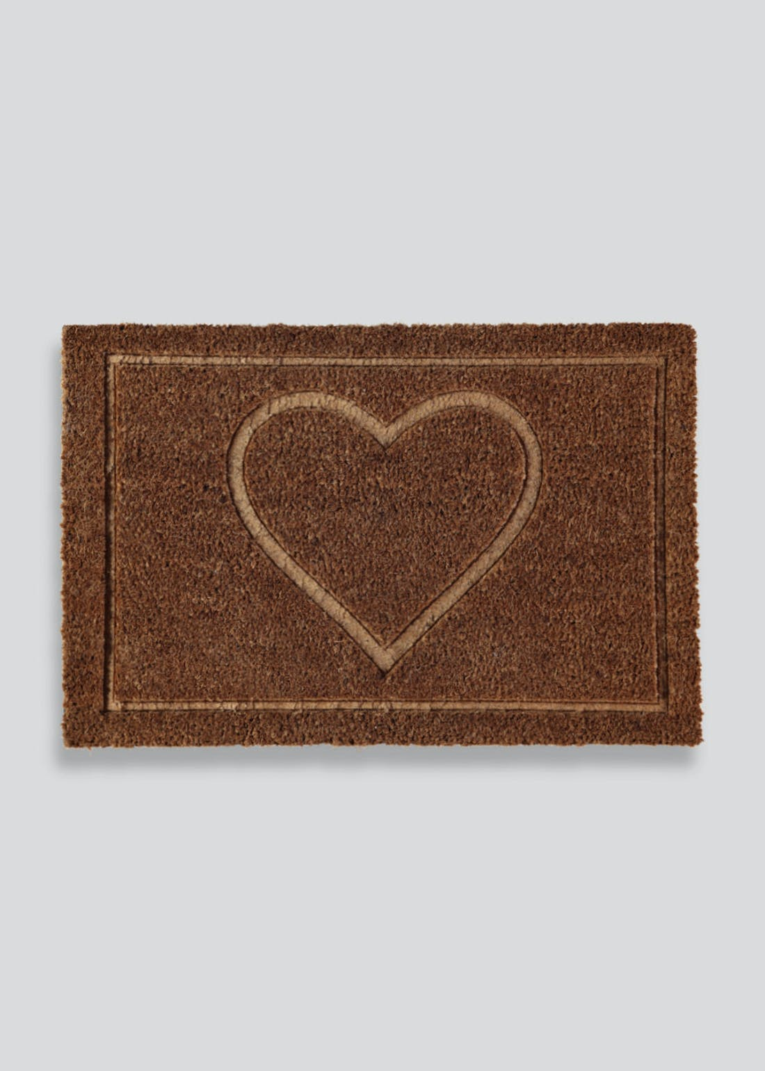 Embossed Heart Doormat (60cm x 40cm)