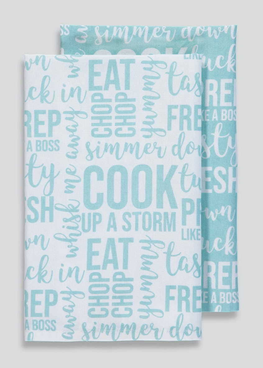 2 Pack Slogan Tea Towels