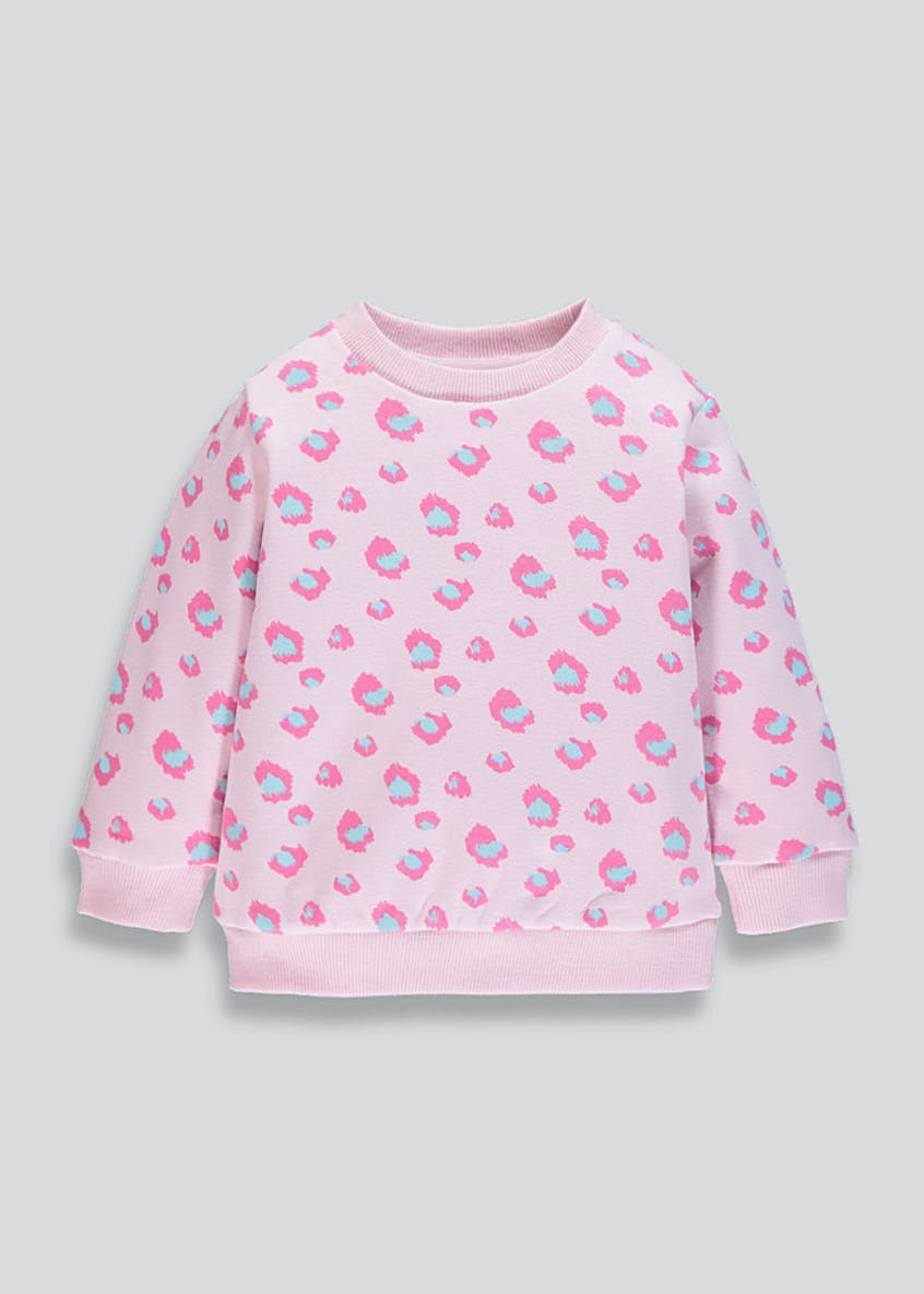 Girls Neon Animal Print Sweatshirt (9mths-6yrs)