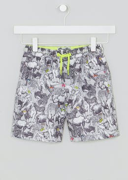 Boys Animal Print Swim Shorts (4-13yrs)