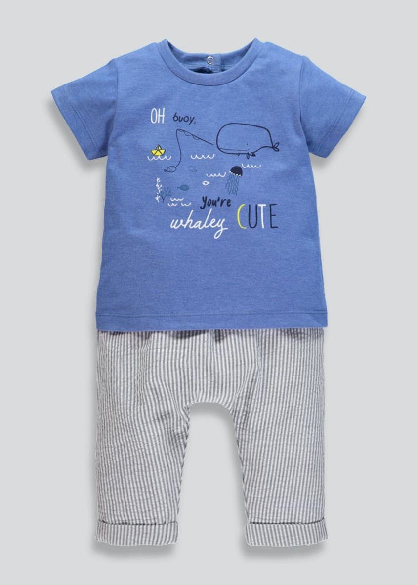 Unisex 2 Piece Whale Set (Newborn-18mths)