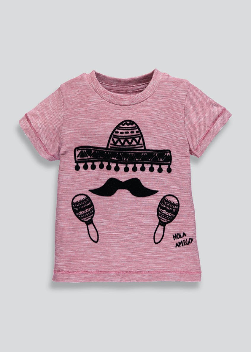 Kids Hola Amigo Slogan T-Shirt (9mths-6yrs)