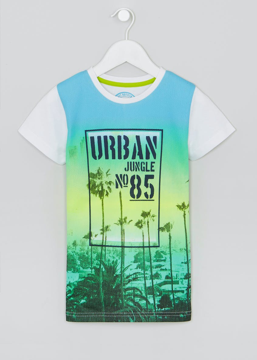Boys Urban Jungle Slogan T-Shirt (4-13yrs)