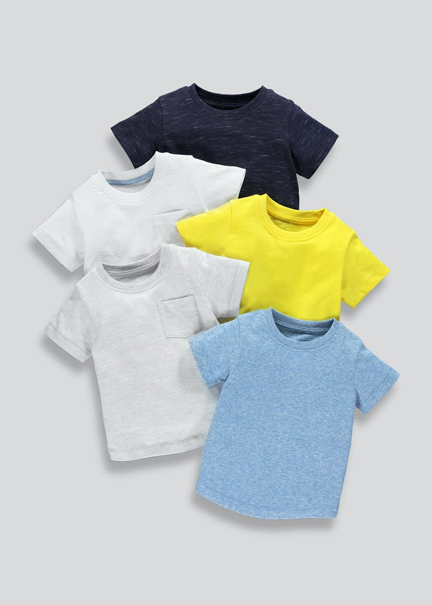 Boys 5 Pack Jersey T-Shirts (9mths-6yrs)