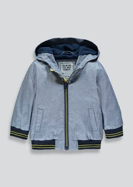 Boys Chambray Hooded Bomber Jacket (9mths-6yrs)