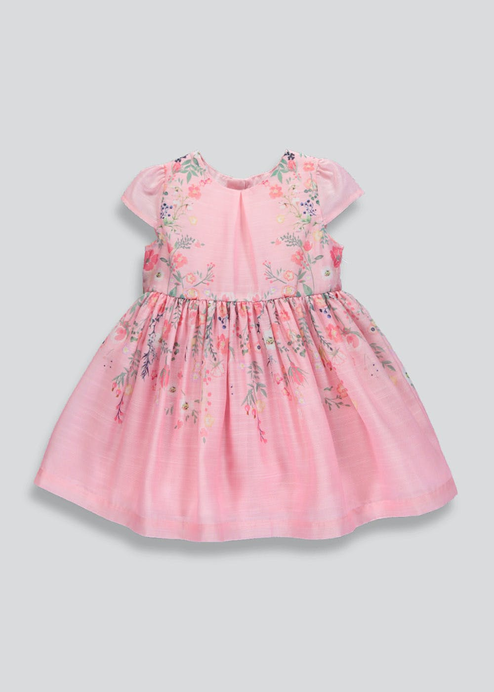 bc372a6f6f30 Mini Me Girls Floral Occasion Dress (9mths-6yrs) – Pink – Matalan