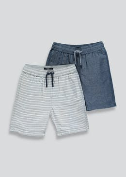 Boys 2 Pack Woven Swim Shorts (4-13yrs)