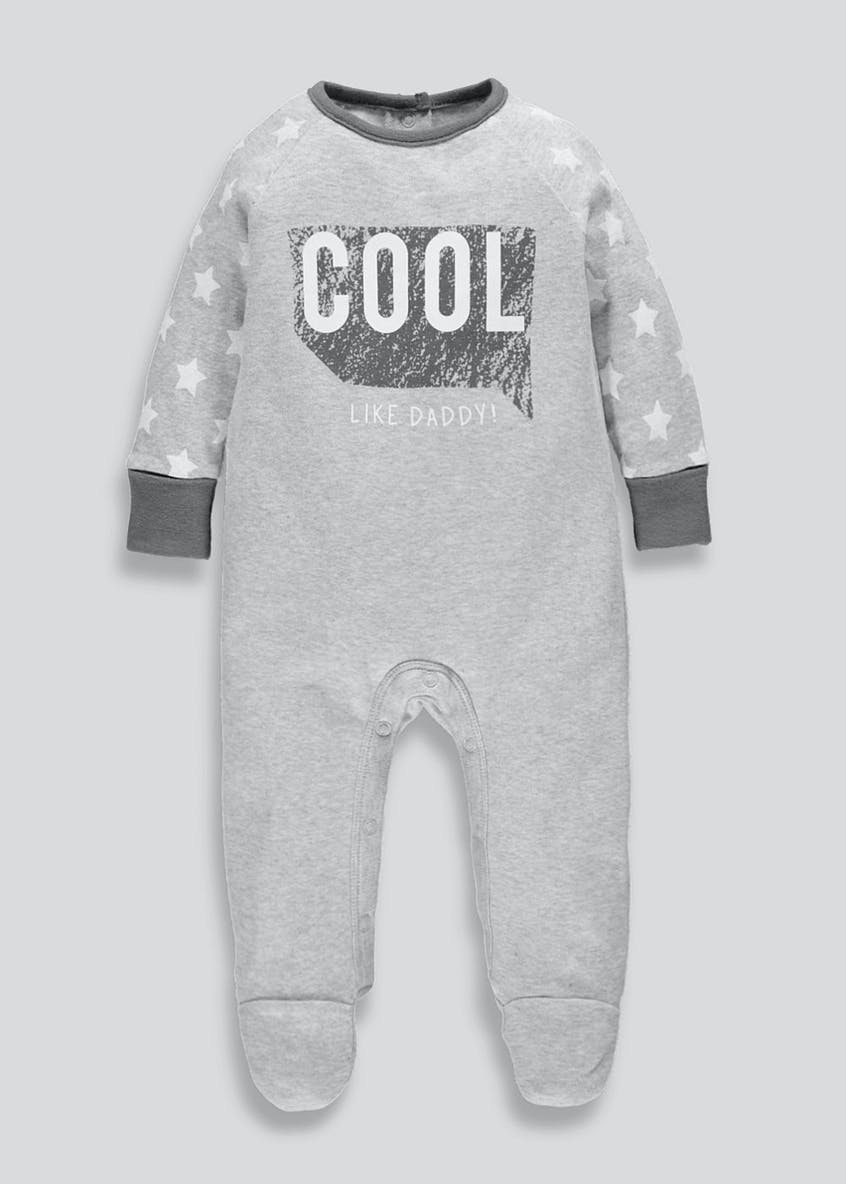 Unisex Daddy Slogan Baby Grow (Tiny Baby-12mths)